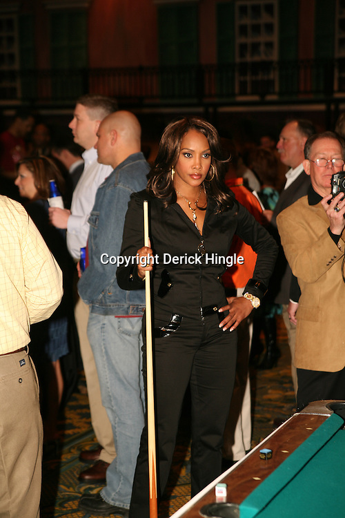 Vivica A Fox at the Big Easy Billiard' Bash a celebrity pool tournament and party hosted by NFL Superstar Reggie Bush and NBA Superstar (SHAQ) Shaquille O'Neal at the Hilton Riverside Hotel in New Orleans, Louisiana on February 15th 2008.