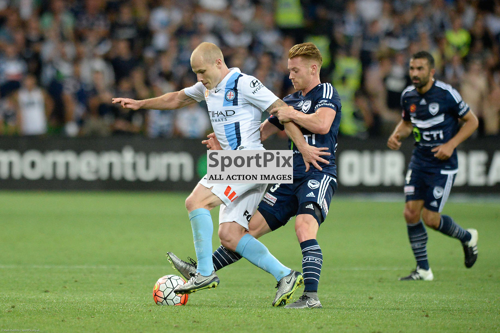 Aaron Mooy of Melbourne City, Oliver Bozanicn of Melbourne Victory - Hyundai A-League, 19th December 2015, RD11 match between Melbourne City FC v Melbourne Victory FC at Aami Park in a 2:1 win to City in front of a 23,000+ crowd. Melbourne Australia. © Mark Avellino | SportPix.org.uk