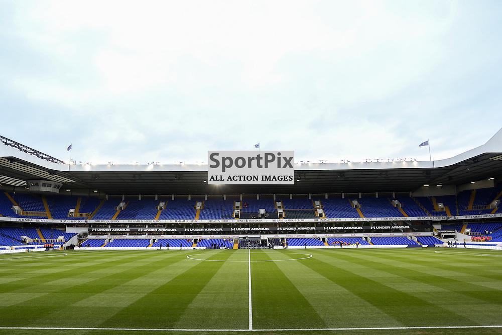 White Hart Lane Stadium of Tottenham Hotspur before Tottenham vs Liverpool on Saturday 15th of October 2015.