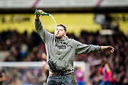 Drunk fan pitch invasion  during the Premier League match between Crystal Palace and Newcastle United at Selhurst Park, London, England on 4 February 2018. Picture by Sebastian Frej.