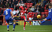 Charlton Athletic striker Ricardo Vaz Te could not prevent Charlton losing during the Sky Bet Championship match between Charlton Athletic and Ipswich Town at The Valley, London, England on 28 November 2015. Photo by Matthew Redman.