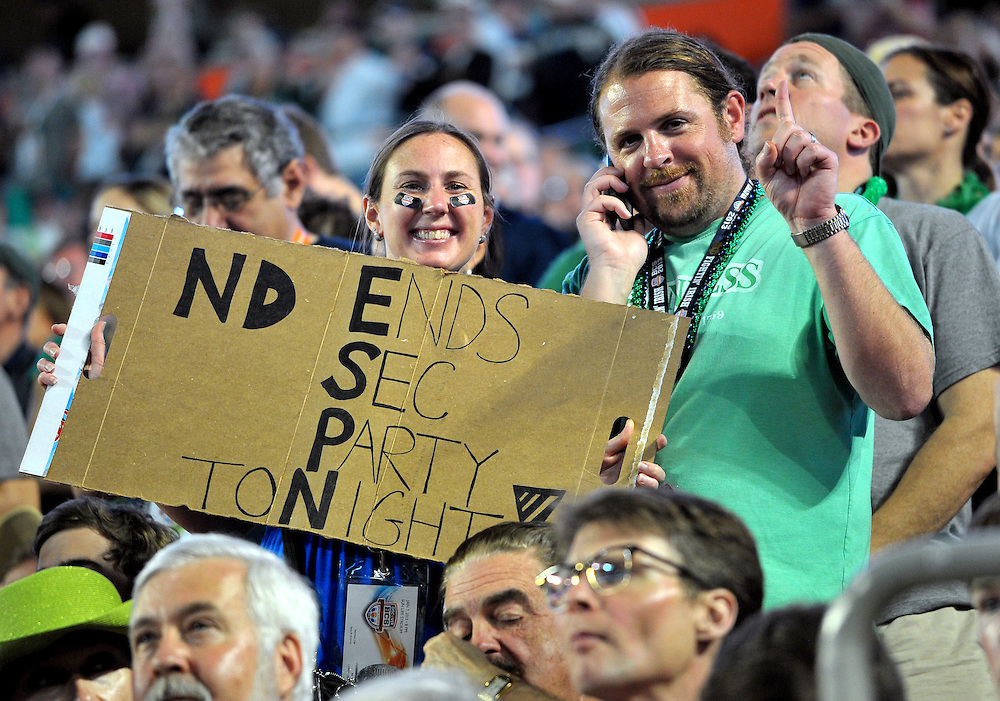 ND fans were optimistic as the night began.