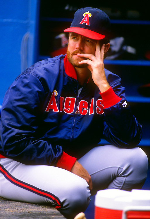 MILWAUKEE - 1989:  Bert Blyleven of the California Angels looks on during an MLB game against the Milwaukee Brewers at County Stadium in Milwaukee, Wisconsin.  Blyleven played for the Angels from 1989-1992.  (Photo by Ron Vesely)