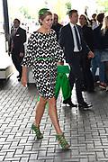 Koningin Máxima bij congres van de European Academy of Neurology in de RAI, Amsterdam<br /> <br /> Queen Máxima at the congress of the European Academy of Neurology in the RAI, Amsterdam<br /> <br /> op de foto / On the photo: Aankomst Koningin Máxima / Arrival Queen Maxima