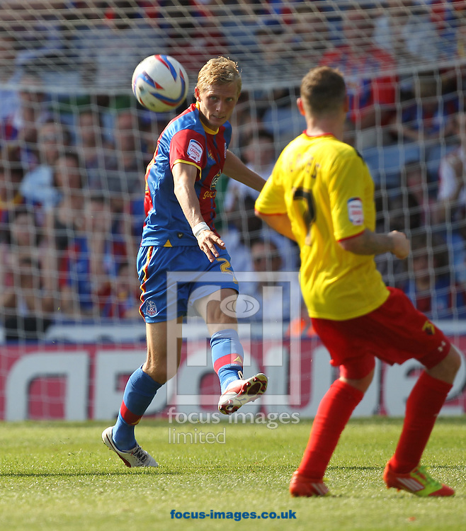 Picture by Daniel Weir/Focus Images Ltd +44 7982 911743.18/08/2012.Dean Moxey of Crystal Palace FC on the ball during the npower Championship match between Crystal Palace FC & Watford FC at Selhurst Park, London.