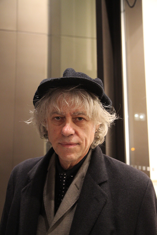 Bob Geldof outside the Phillips Auction House, 19th March 2015 where he was supporting his daughter Pixie Geldof at the Oceana event 'Fashions for the Future'.