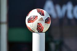 Match ball prior football match between NS Mura and NK Maribor in 10th Round of Prva liga Telekom Slovenije 2018/19, on September 30, 2018 in Mestni stadion Fazanerija, Murska Sobota, Slovenia. Photo by Mario Horvat / Sportida