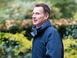 London, October 31 2017. Health Secretary Jeremy Hunt attends the UK cabinet meeting at Downing Street. © Paul Davey