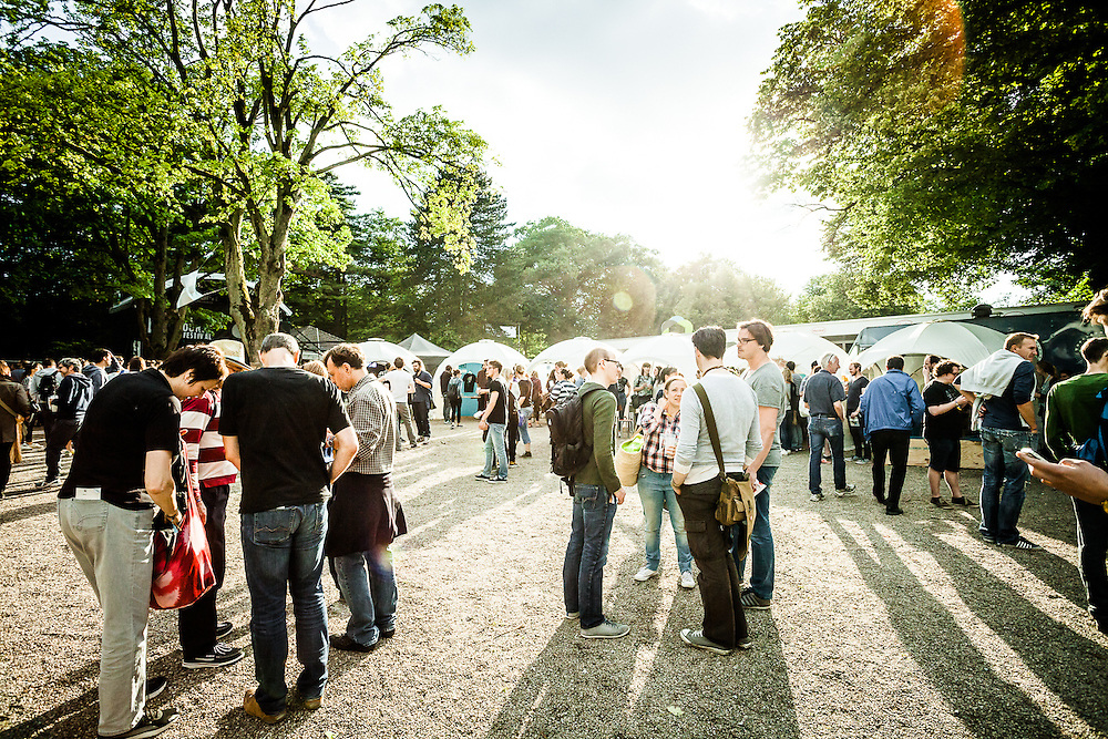 Impressions of the Open Source Festival 2015 at Galopprennbahn in Grafenberg, Duesseldorf.