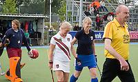 UTRECHT -  tijdens de finale Veteranen hoofdklasse A dames tussen Kampong en Amsterdam. Kampong wint na shoot out. COPYRIGHT KOEN SUYK