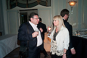 LUCIAN GRAINGE; CAROLINE GRAINGE, Dinner to mark 50 years with Vogue for David Bailey, hosted by Alexandra Shulman. Claridge's. London. 11 May 2010<br /> -DO NOT ARCHIVE-© Copyright Photograph by Dafydd Jones. 248 Clapham Rd. London SW9 0PZ. Tel 0207 820 0771. www.dafjones.com.