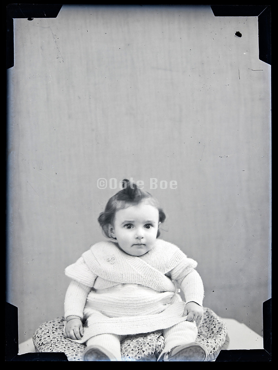 toddler studio portrait circa 1930s