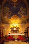 Interior  of Church of all Nations, Jerusalem. Basilica of the Agony - Church of all Nations, Gethsemane, Jerusalem, Israel. The Church of All Nations, also known as the Church of the Agony or the Basilica of the Agony, is located on Mount of Olives in Jerusalem, next to the Garden of Gethsemane. It enshrines a section of bedrock where Jesus is said to have prayed before the night of his arrest.