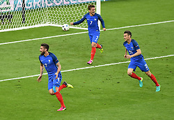 Olivier Giroud of France celebrates his goal  - Mandatory by-line: Joe Meredith/JMP - 10/06/2016 - FOOTBALL - Stade de France - Paris, France - France v Romania - UEFA European Championship Group A