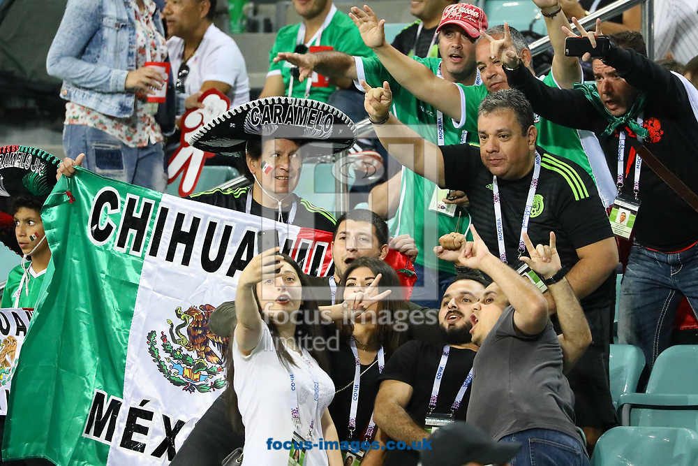 Fans during the 2017 FIFA Confederations Cup Mexico v New Zealand  match at Fisht Stadium, Sochi<br /> Picture by EXPA Pictures/Focus Images Ltd 07814482222<br /> 22/06/2017<br /> *** UK &amp; IRELAND ONLY ***<br /> <br /> EXPA-EIB-170622-0050.jpg