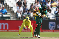 Rilee Rossouw of South Africa plays a delivery to the leg side during the 5th ODI match between South Africa and Australia held at Newlands Stadium in Cape Town, South Africa on the 12th October  2016<br /> <br /> Photo by: Shaun Roy/ RealTime Images