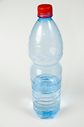Cutout of a Plastic Bottle of Mineral Water on white background