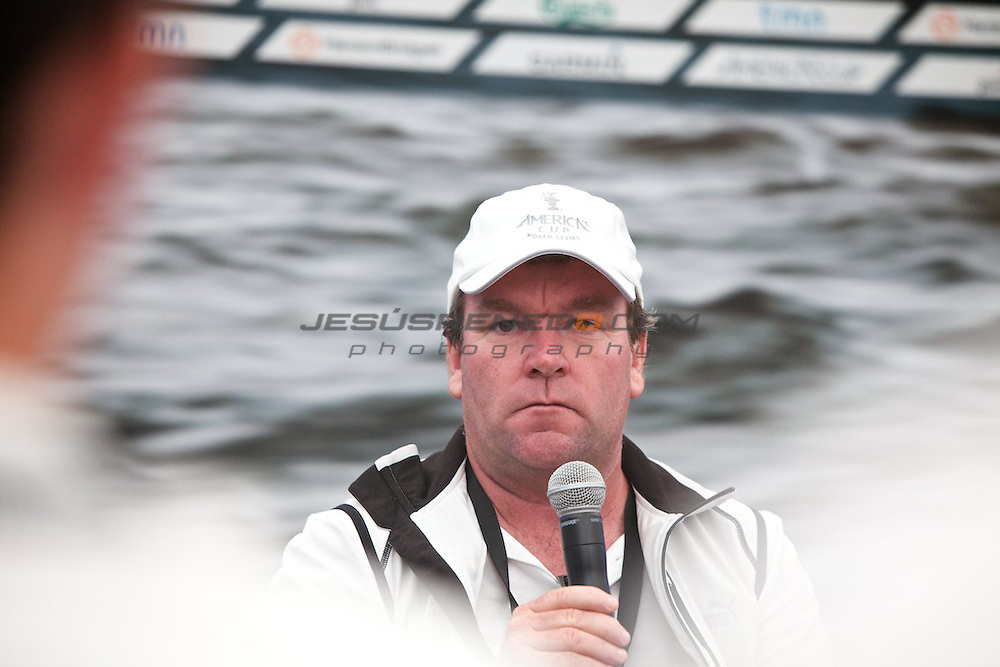 AC World Series,Cascais,Portugal.Americas Cup Principal Race Officer John Craig..
