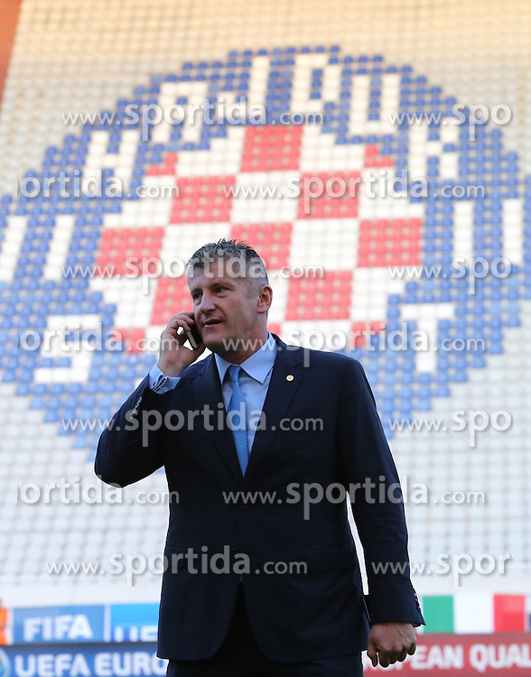 12.06.2015, Stadion Poljud, Split, CRO, UEFA Euro 2016 Qualifikation, Kroatien vs Italien, Gruppe H, im Bild Davor Suker // during the UEFA EURO 2016 qualifier group H match between Croatia and and Italy at the Stadion Poljud in Split, Croatia on 2015/06/12. EXPA Pictures &copy; 2015, PhotoCredit: EXPA/ Pixsell/ Ivo Cagalj<br /> <br /> *****ATTENTION - for AUT, SLO, SUI, SWE, ITA, FRA only*****