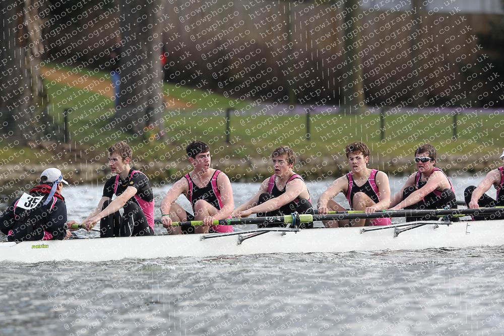 2012.02.25 Reading University Head 2012. The River Thames. Division 1. Abingdon School Boat Club A IM3 8+