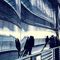Where: Paris underground shopping mall.