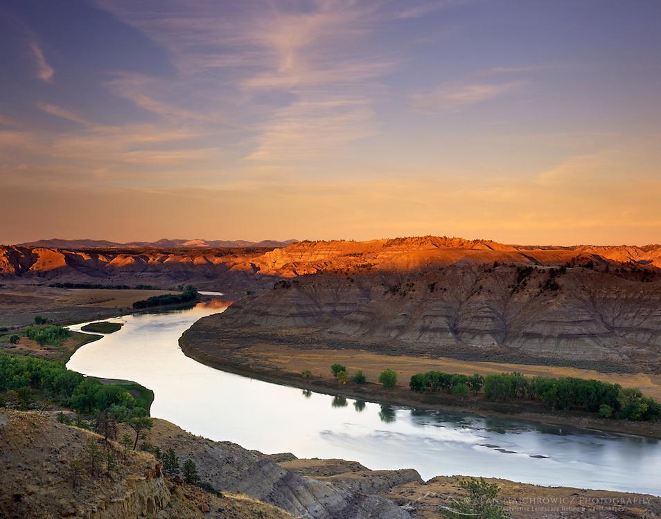 Evening over Upper Missouri River Breaks National Monument, Montana USA