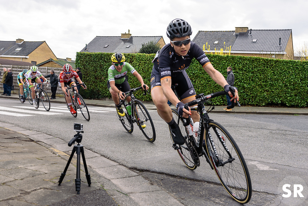 Audrey Cordon-Ragot (Wiggle Hi5) - Grand Prix de Dottignies 2016. A 117km road race starting and finishing in Dottignies, Belgium on April 4th 2016.