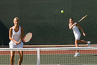 Doubles Player Hitting Forehand