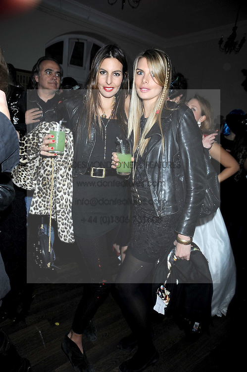 Left to right, sisters ZARA SIMON and JESSICA SIMON at a Halloween party hosted by Alexa Chung and Browns Focus held at the House of St.Barnabas, 1 Greek Street, London on 31st October 2008.
