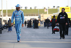 October 19, 2018 - Kansas City, Kansas, United States of America - Darrell Wallace, Jr (43) hangs out on pit road prior to qualifying for the Hollywood Casino 400 at Kansas Speedway in Kansas City, Kansas. (Credit Image: © Justin R. Noe Asp Inc/ASP via ZUMA Wire)