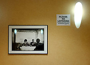 © Licensed to London News Pictures. 01/01/2013. Washington DC, USA .  A photograph of former president John F Kennedy hangs in a McDonalds restaurant. Photo credit : Stephen Simpson/LNP