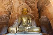 Buddha sculputure inside Bagan temple (Myanmar)