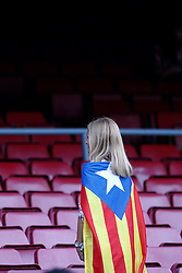 07-10-2012 VOETBAL: BARCELONA - REAL MADRID: BARCELONA<br /> Barcelonas supporters // during during the Spanish Primera Division 7th round match between Barcelona FC and Real Madrid CF at Camp Nou, Barcelona<br /> ***NETHERLANDS ONLY***<br /> ©2012-FotoHoogendoorn.nl-Cesar Cebolla