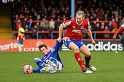 Mark Molseley and Scott Tanser during the The FA Cup match between Aldershot Town and Rochdale at the EBB Stadium, Aldershot, England on 7 December 2014.