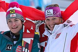 19.02.2011, Gudiberg, Garmisch Partenkirchen, GER, FIS Alpin Ski WM 2011, GAP, Damen, Slalom, im Bild silver medal Kathrin Zettel (AUT), Gold Medal and World Champion Marlies Schild (AUT) during Ladie's Slalom Fis Alpine Ski World Championships in Garmisch Partenkirchen, Germany on 19/2/2011. EXPA Pictures © 2011, PhotoCredit: EXPA/ M. Gunn