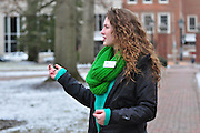Ohio University student and tour guide Jordan Endres during her tour of college green.