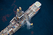 Gulf of Mexico, Louisiana (USA). May 18th, 2010. .Aerial views of the oil that still leaks from the Deepwater Horizon wellhead. The BP leased oil platform exploded on April 20 and sank after burning. Photo © Daniel Beltra/Greenpeace