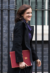 Downing Street, London, January 26th 2016. Northern Ireland Secretary Theresa Villiers leaves 10 Downing Street following the weekly Cabinet meeting. ///FOR LICENCING CONTACT: paul@pauldaveycreative.co.uk TEL:+44 (0) 7966 016 296 or +44 (0) 20 8969 6875. ©2015 Paul R Davey. All rights reserved.