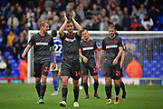 Bolton Wanderers defender Jack Hobbs (14) leads the applause for the fans after the EFL Sky Bet Championship match between Ipswich Town and Bolton Wanderers at Portman Road, Ipswich, England on 22 September 2018.