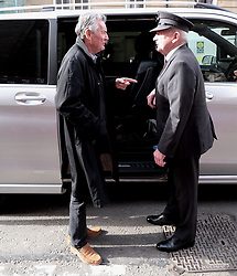 "Glasgow Film Festival, Sunday 3rd March 2019<br /> <br /> UK Premiere of ""Final Ascent""<br /> <br /> Pictured: Sir Michael Palin arrives and chats to his driver<br /> <br /> Alex Todd 