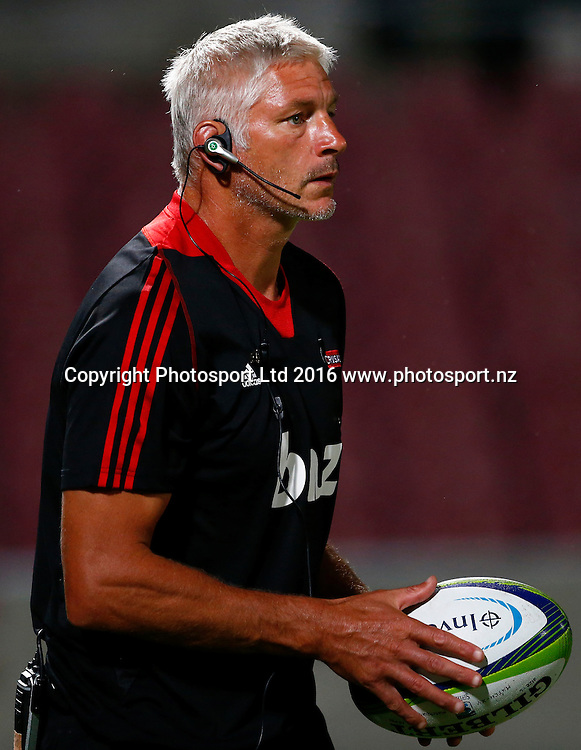 Super Rugby Pre Season Match - Queensland Reds v Canterbury Crusaders at Ballymoore Brisbane -  6 February 2015 <br /> Crusaders' coach Todd Blackadder<br /> Jason O'Brien / www.photosport.nz