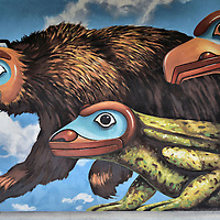 City Hall Mural by Bill Ray in Juneau, Alaska <br />
