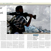 "Tearsheet of ""Libya: Morrer por Benghazi"" published in Expresso"