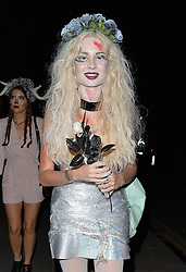 Nina Nesbitt attends 'Death Of A Geisha' halloween party hosted by Fran Cutler and Cafe KaiZen in London, UK. 31/10/2014<br />