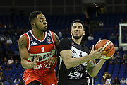AJ Basi of Newcastle Eagles during the Betway British Basketball All-Stars Championship at the O2 Arena, London, United Kingdom on 24 September 2017. Photo by Martin Cole.