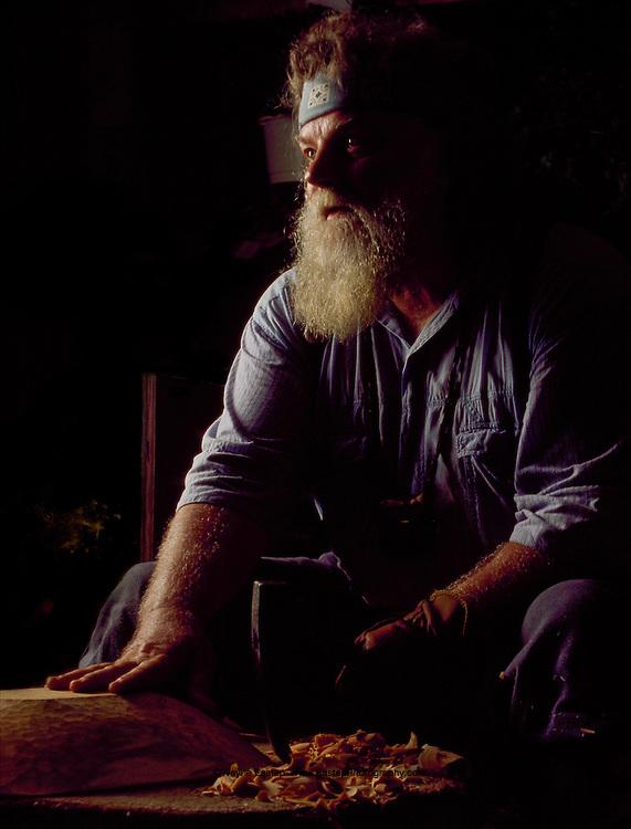 Rip Mann, Woodcarver, Heritage Mountain Fair, Hiawassee, Georgia