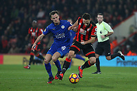 Football - 2016 / 2017 Premier League - AFC Bournemouth vs. Leicester City<br /> <br /> Bournemouth's Marc Pugh under pressure from Andy King of Leicester City at Dean Court (The Vitality Stadium) Bournemouth<br /> <br /> COLORSPORT/SHAUN BOGGUST