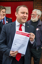Pictured: Ian Murray was also focused on saving the Morningside Post Office which is a hub of the community.<br /> <br /> <br /> Scottish Labour&rsquo;s Ian Murray and Scottish Labour leader Kezia Dugdale hit the general election campaign trail in Edinburgh today for the first campaign event of Mr Murray&rsquo;s re-election campaign for the Edinburgh South constituency.<br /> Ger Harley | EEm 21 April 2017