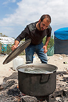 Cooking, The Jungle, refugee camp, France