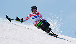 March 14, 2018 - Pyeongchang, South Korea - Andrew Kurka during Giant Slalom competition Wednesday, March 14, 2018 at the Jeongson Alpine Center at the Pyeongchang Winter Paralympic Games. Photo by Mark Reis (Credit Image: © Mark Reis via ZUMA Wire)